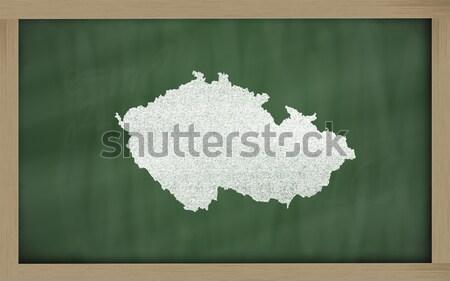 outline map of kentucky on blackboard  Stock photo © vepar5