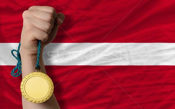 спорт флаг Латвия победителем Сток-фото © vepar5