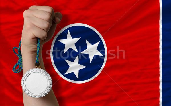 Srebrny medal sportu banderą amerykański Tennessee Zdjęcia stock © vepar5