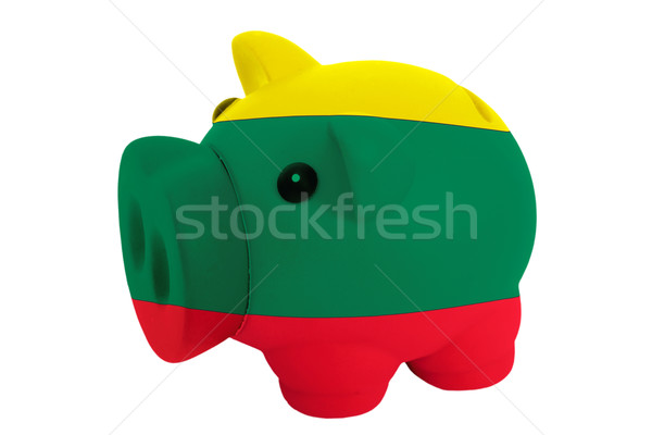 богатых банка цветами флаг Литва Сток-фото © vepar5