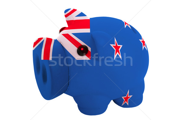 piggy rich bank in colors  national flag of new zealand    for s Stock photo © vepar5