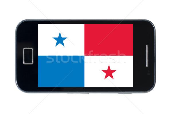Okostelefon zászló Panama Pakisztán telefon internet Stock fotó © vepar5