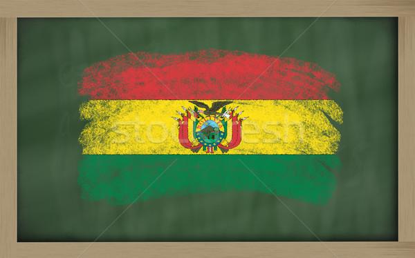 флаг Боливия доске окрашенный мелом цвета Сток-фото © vepar5