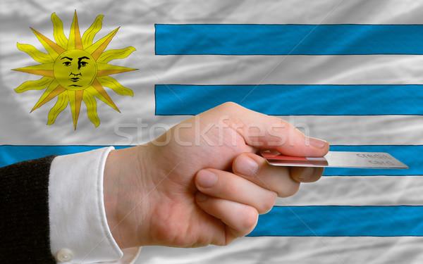 Vásárol hitelkártya Uruguay férfi nyújtás ki Stock fotó © vepar5