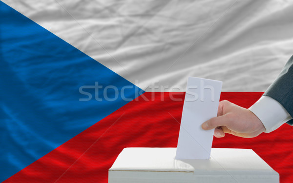 man voting on elections in czech Stock photo © vepar5
