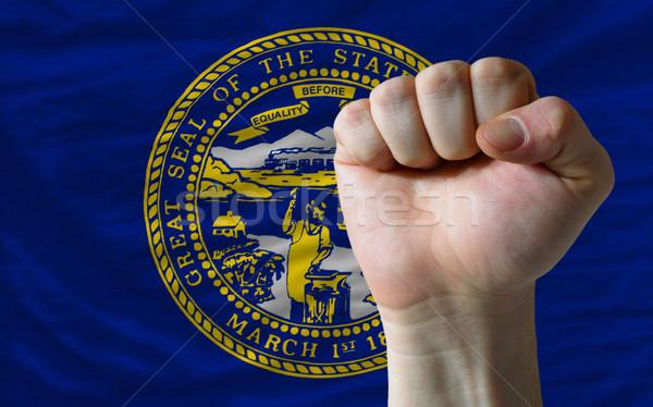 Zászló Nebraska ököl teljes amerikai egész Stock fotó © vepar5