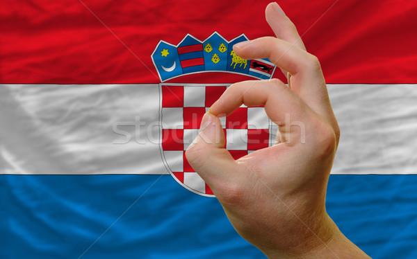 Neden jest Hırvatistan bayrak adam Stok fotoğraf © vepar5
