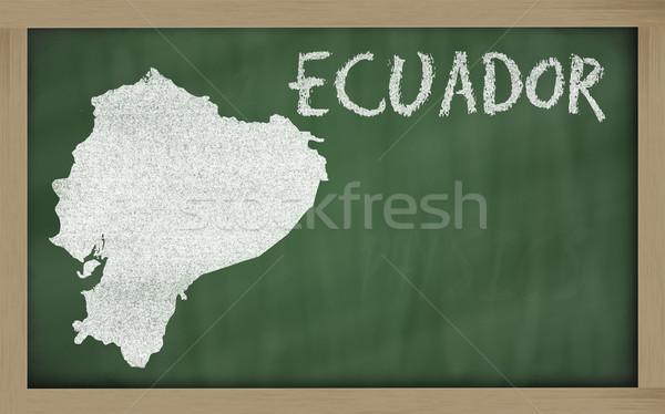 Harita Ekvador tahta çizim Stok fotoğraf © vepar5