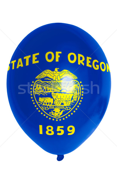 Balloon colored in  flag of american state of oregon    Stock photo © vepar5