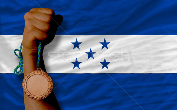 бронзовый медаль спорт флаг Гондурас Сток-фото © vepar5