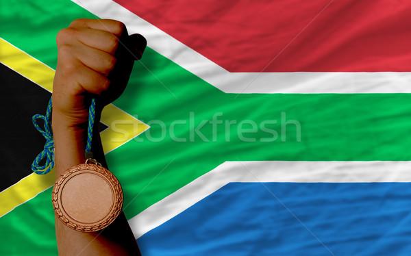 Bronze medalha esportes bandeira África do Sul Foto stock © vepar5