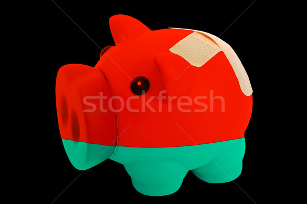 bankrupt piggy rich bank in colors of national flag of belarus   Stock photo © vepar5