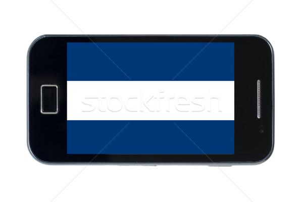 Okostelefon zászló Nicaragua telefon internet telefon Stock fotó © vepar5