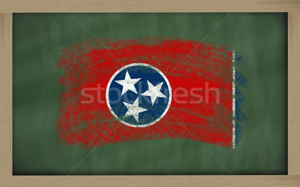 Banderą Tennessee tablicy malowany kredy amerykański Zdjęcia stock © vepar5