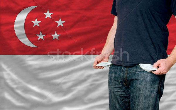 recession impact on young man and society in singapore africa Stock photo © vepar5
