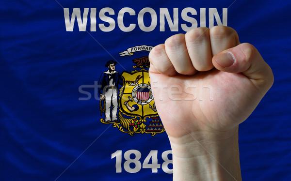 флаг Висконсин кулаком полный американский все Сток-фото © vepar5
