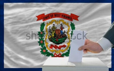 Teljes zászló amerikai Nyugat-Virginia egész keret Stock fotó © vepar5
