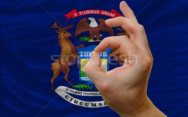 Gesto Michigan bandera hombre Foto stock © vepar5