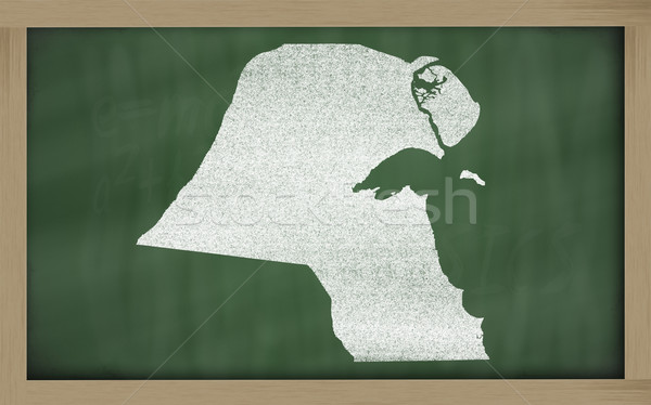 outline map of kuwait on blackboard  Stock photo © vepar5