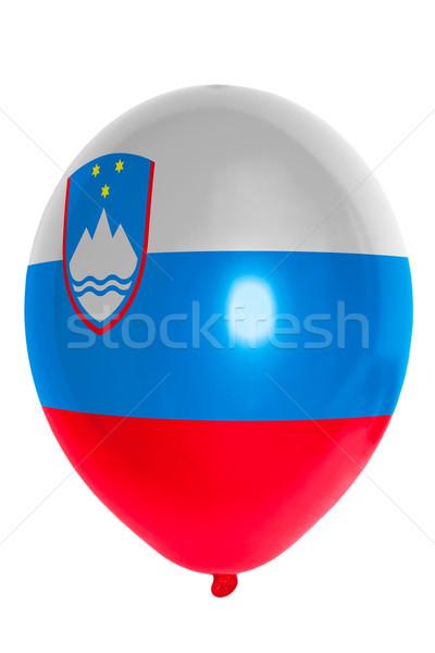 Ballon gekleurd vlag Slovenië gelukkig reizen Stockfoto © vepar5