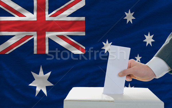 man voting on elections in australia Stock photo © vepar5