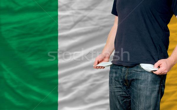 Recesión joven sociedad Irlanda pobres hombre Foto stock © vepar5