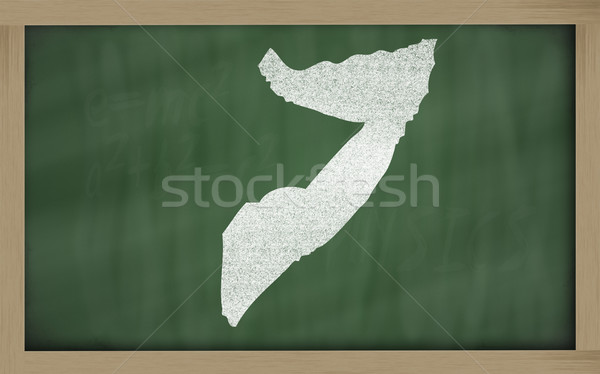 Carte Somalie tableau noir dessin Photo stock © vepar5