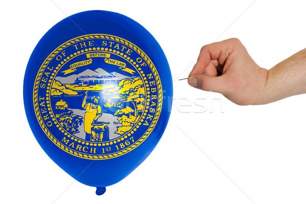 Balão bandeira americano Nebraska política Foto stock © vepar5