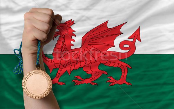 青銅 金メダル スポーツ フラグ ウェールズ ストックフォト © vepar5