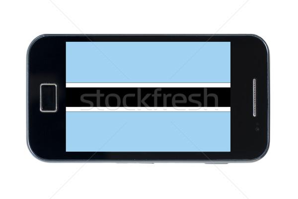 Bandera Botswana teléfono Internet teléfono Foto stock © vepar5