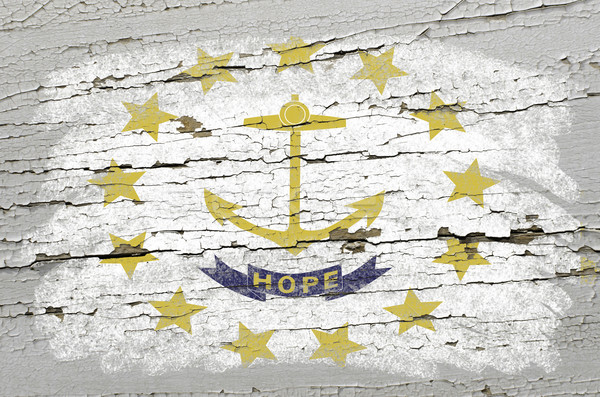 Bandeira Rhode Island grunge textura americano Foto stock © vepar5