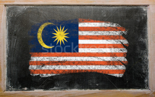 flag of Malaysia on blackboard painted with chalk   Stock photo © vepar5