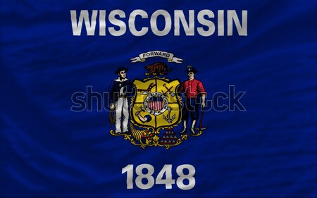 complete waved flag of american state of wisconsin for backgroun Stock photo © vepar5
