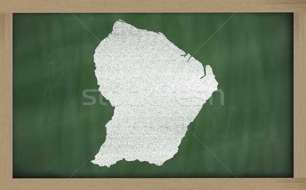 Skicc térkép francia Guyana iskolatábla rajz Stock fotó © vepar5