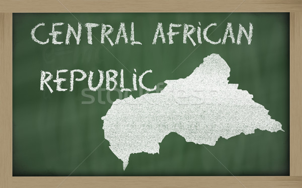 outline map of central african republic on blackboard  Stock photo © vepar5