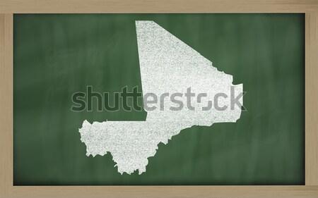 Foto stock: Mapa · Califórnia · lousa · desenho · quadro-negro