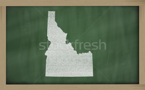 outline map of idaho on blackboard  Stock photo © vepar5