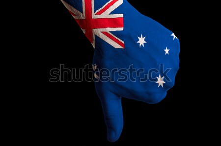 australia national flag thumb down gesture for failure made with Stock photo © vepar5