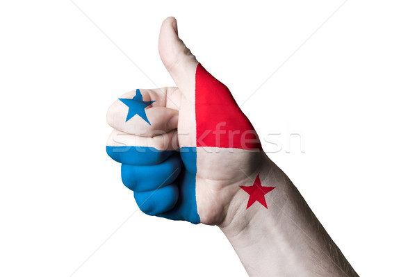 panama national flag thumb up gesture for excellence and achieve Stock photo © vepar5