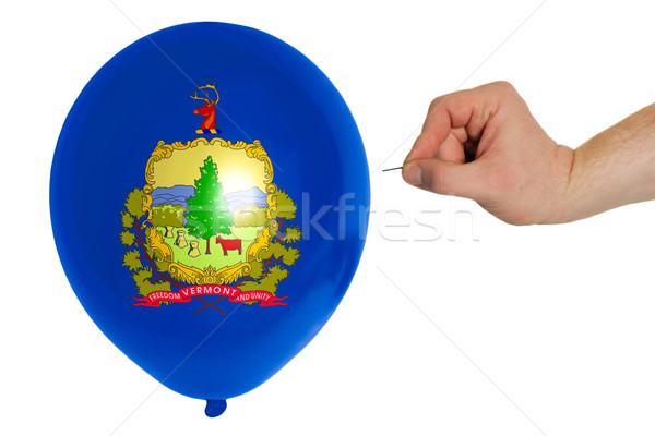Bursting balloon colored in  flag of american state of vermont   Stock photo © vepar5