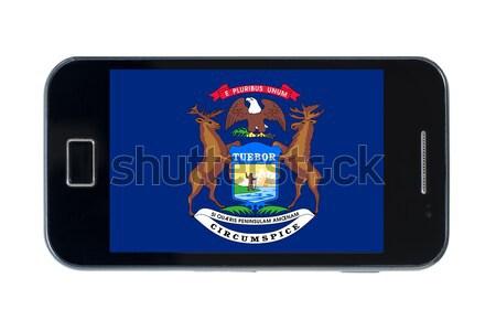 смартфон флаг американский Висконсин телефон путешествия Сток-фото © vepar5