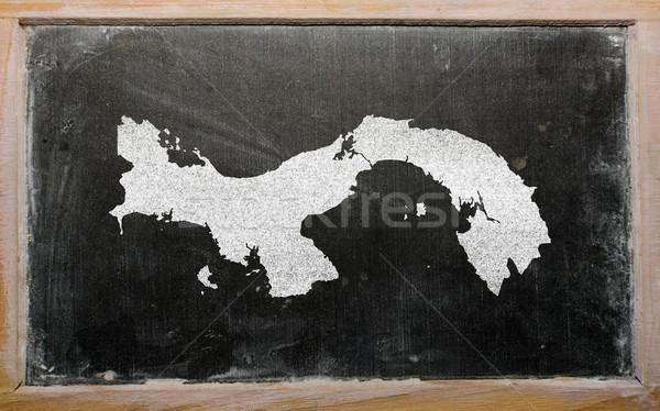 Skicc térkép Panama iskolatábla rajz rajzolt Stock fotó © vepar5