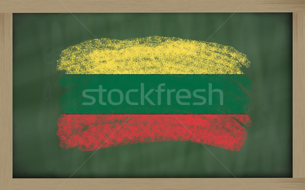 national flag of lithuania on blackboard painted with chalk Stock photo © vepar5