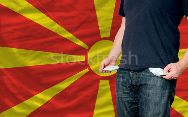 recession impact on young man and society in macedonia Stock photo © vepar5