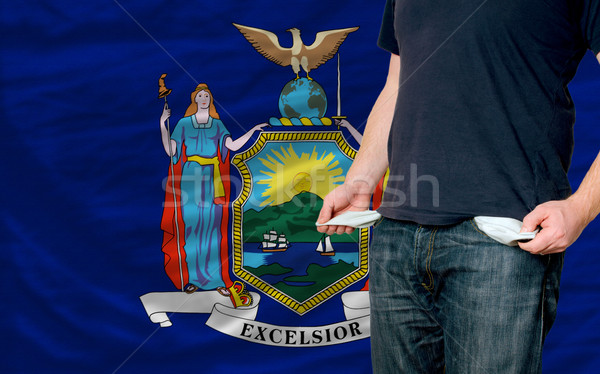 recession impact on young man and society in american state of n Stock photo © vepar5