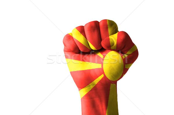 Puno pintado colores Macedonia bandera bajo Foto stock © vepar5