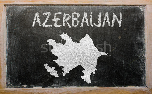 Foto stock: Mapa · Azerbaiyán · pizarra · dibujo