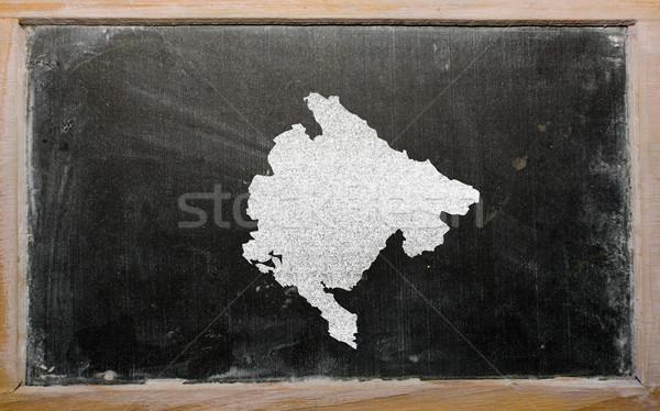 outline map of montenegro on blackboard  Stock photo © vepar5