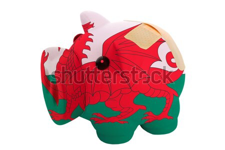 Stock photo: wales national flag thumbs down gesture for failure made with ha