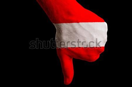 オーストリア フラグ 親指 ダウン ジェスチャー 失敗 ストックフォト © vepar5